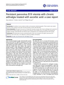 Persistent parvovirus B19 viremia with chronic ... - Springer Link