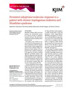 Persistent suboptimal molecular response in a patient with chronic ...