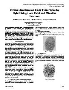 Person Identification Using Fingerprint by ... - Semantic Scholar