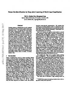 Person Re-Identification by Deep Joint Learning of Multi-Loss ...