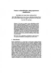Person re-identification using appearance ... - Semantic Scholar