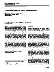 Personal experience with tinnitus retraining therapy - Springer Link