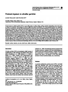 Personal exposure to ultrafine particles - Semantic Scholar