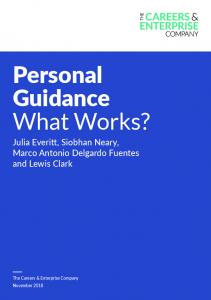 Personal Guidance What Works? - The Careers & Enterprise Company