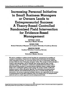 Personal initiative training for small business owners (PDF Download ...