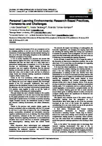 Personal Learning Environments: Research-Based Practices ... - Dialnet