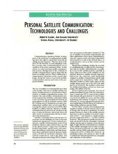 personal satellite communication: technologies and ... - IEEE Xplore