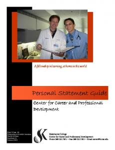 Personal Statement Guide - Kalamazoo College