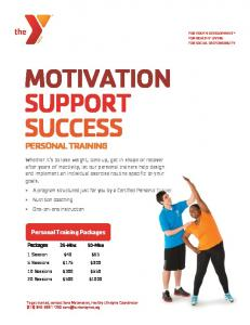 Personal Training FALL 2013 - Burbank Community YMCA