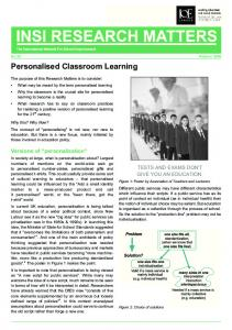 Personalised Classroom Learning - chriswatkins.net