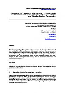 Personalised Learning: Educational, Technological and ... - Dialnet