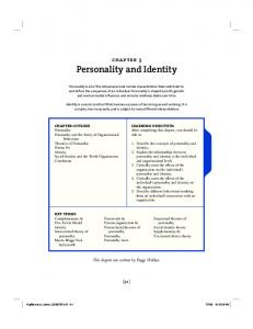 Personality and Identity