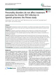 Personality disorders do not affect treatment ... - Semantic Scholar