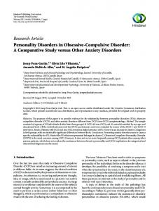Personality Disorders in Obsessive-Compulsive Disorder: A ...