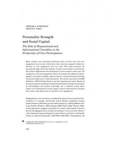 Personality Strength and Social Capital - CiteSeerX