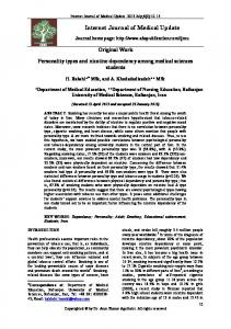 Personality types and nicotine dependency among ... - AKS Publication