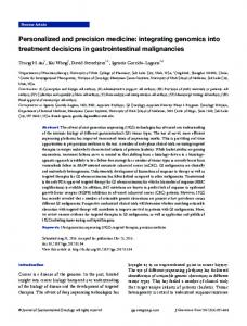 Personalized and precision medicine - Journal of Gastrointestinal ...