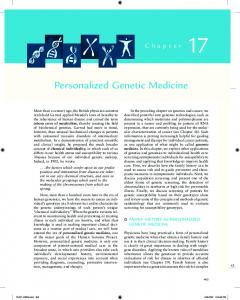 Personalized Genetic Medicine - National Human Genome ...