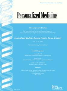 Personalized Medicine Europe: Health, Genes