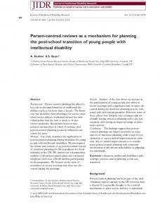 Personcentred reviews as a mechanism for ... - Wiley Online Library