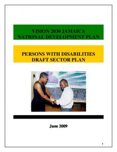 Persons with Disabilities - Vision 2030 Jamaica