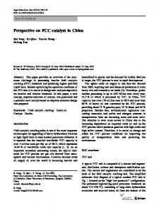 Perspective on FCC catalyst in China - Springer