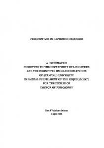 perspectives in reported discourse a dissertation ... - Semantics Archive