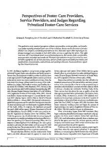 Perspectives of Foster-Care Providers, Service Providers ... - CiteSeerX