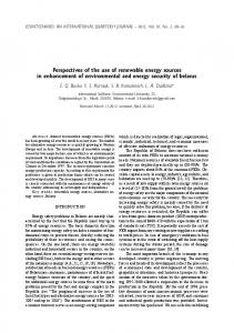 Perspectives of the use of renewable energy sources in enhancement ...