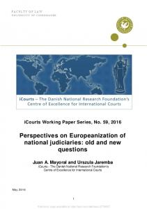 Perspectives on Europeanization of national judiciaries: old and new ...