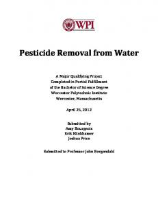 Pesticide Removal from Water