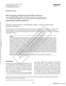 PET imaging of liposomes labeled with an [18F