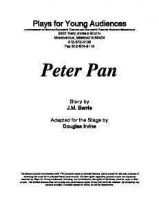 Peter Pan - Plays for Young Audiences