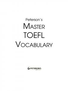 Peterson's MASTER TOEFL VOCABULARY - FreeExamPapers