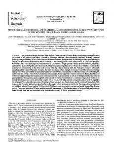 petrological, geochemical, and statistical analysis of ... - CiteSeerX