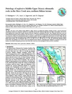 Petrology of explosive Middle-Upper Triassic ultramafic rocks in the ...