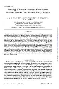 Petrology of Lower Crustal and Upper Mantle ...