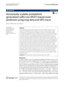 (PGST) based route prediction using map data and ... - Springer Link