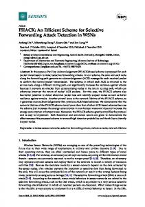 PHACK: An Efficient Scheme for Selective Forwarding Attack ... - MDPI