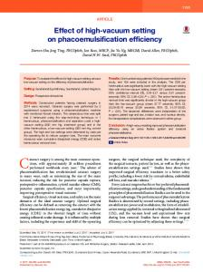 phacoemulsification efficiency - Journal of Cataract & Refractive Surgery
