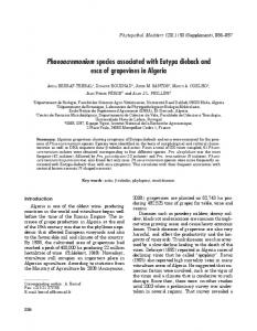 Phaeoacremonium species associated with Eutypa dieback and esca ...
