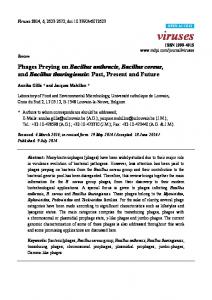 Phages Preying on Bacillus anthracis, Bacillus ... - BioMedSearch