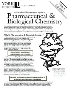 Pharmaceutical & Biological Chemistry - Department of Chemistry ...