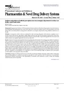 Pharmaceutics & Novel Drug Delivery Systems - OMICS International