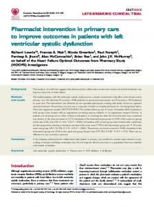 Pharmacist intervention in primary care to improve outcomes in ...