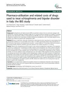 Pharmaco-utilisation and related costs of drugs used to treat ...