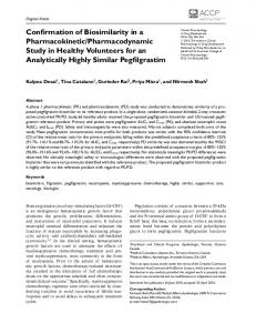 Pharmacodynamic Study in Healthy Volunteers ... - Wiley Online Library