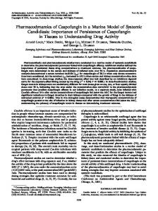 Pharmacodynamics of Caspofungin in a Murine Model of Systemic ...