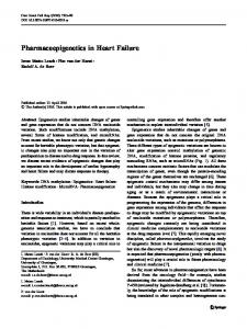 Pharmacoepigenetics in Heart Failure - Springer Link