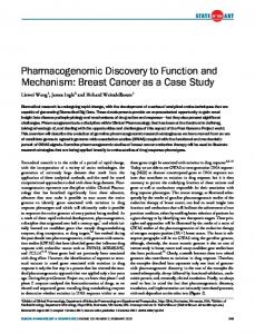 Pharmacogenomic Discovery to Function and ... - ASCPT - Wiley